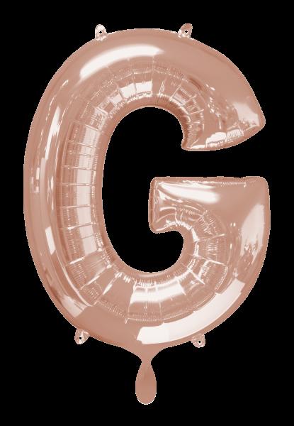 Buchstabenballon G XXL Roségold