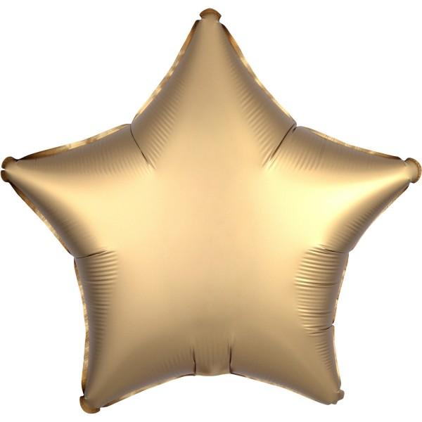 Satin Luxe Stern Gold Folienballon