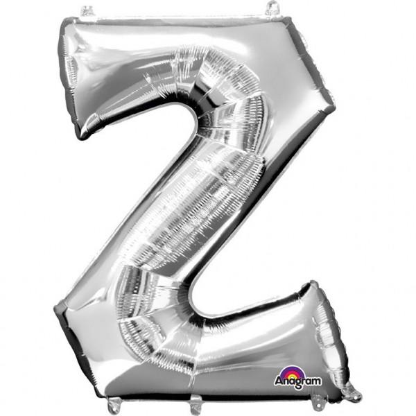 Buchstabenballon Silber XXL Z