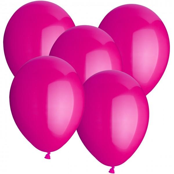 100 Luftballons aus Latex - Rosa