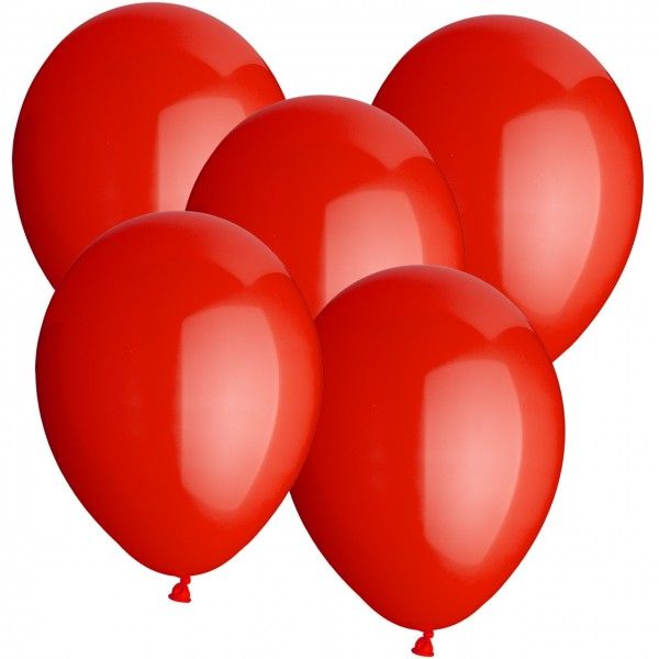 100 Luftballons aus Latex - Rot