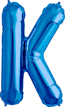 Buchstabe XXL - K - Blau - Folienballon