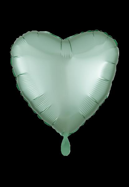Herz Satin Mintgrün Folienballon