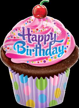 Geburtstag Frosted Cupcake Folienballon