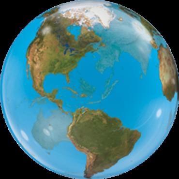 Planet Erde Bubble Folienballon