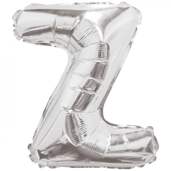"""Buchstabe """"Z"""" Silber Folienballon"""