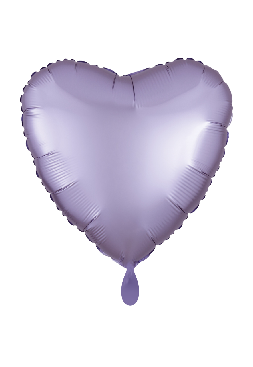 Herz Satin Pastel Rosa Folienballon