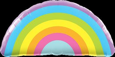 Strahlende Regenbogen Folienballon