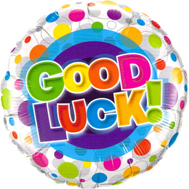 Good Luck Colourful Dots Folienform