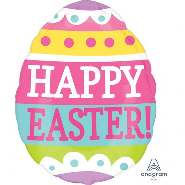 """""""Happy Easter"""" Ei rund Folienballon"""