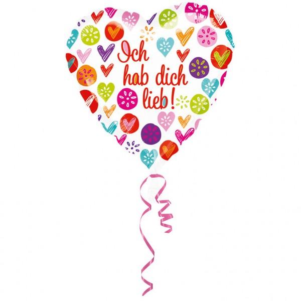 """""""Ich hab dich lieb"""" Folienballon"""
