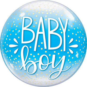 Baby Boy Bubble Folienballon