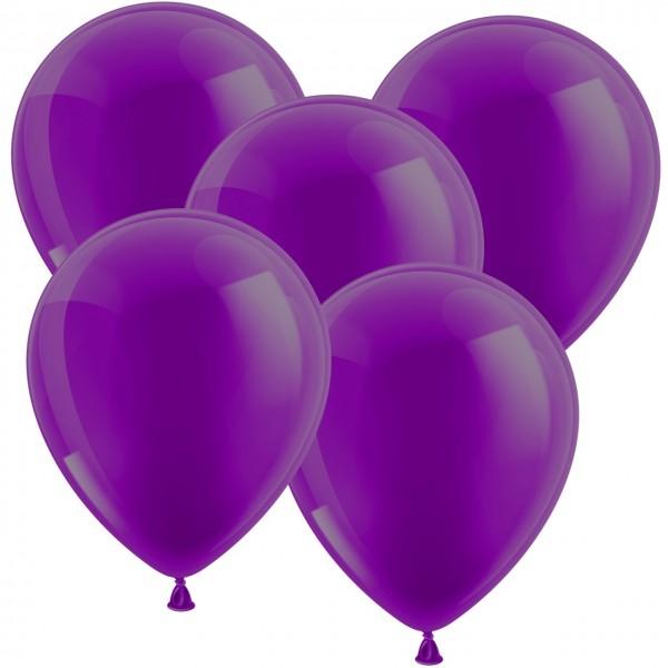 100 Luftballons aus Latex - Metallic Lila 30cm - Rund