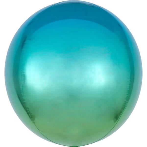 Ombré Orbz Blue & Green Folienballon
