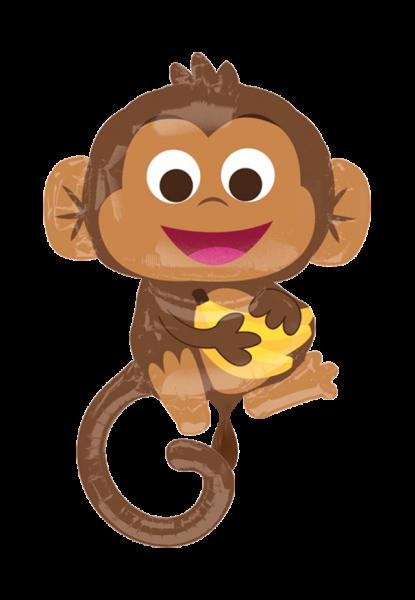 Glücklicher Affe Folienballon