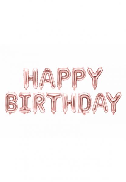 Schriftzug - Happy Birthday - Rose Gold - Folienballon