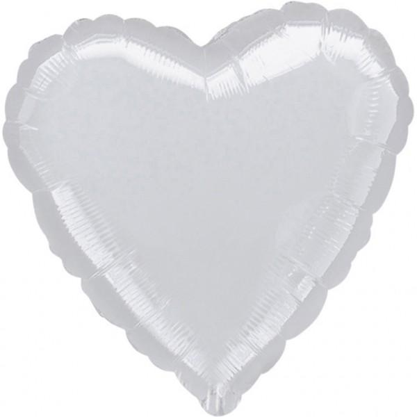 Weiß Herz Folienballon