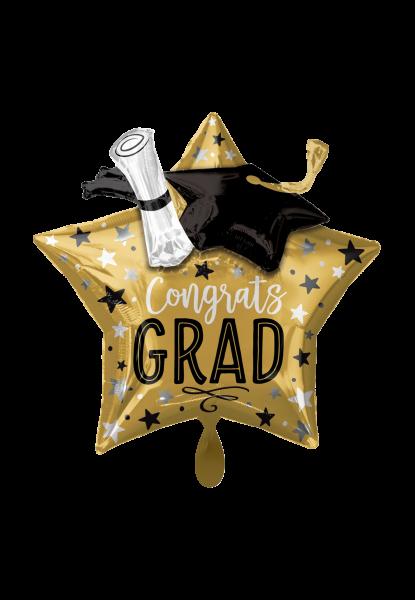 Abschluss - Congrats Grad Star - Folienballon