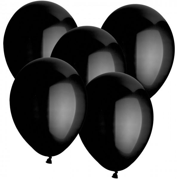 100 Latexballons - Schwarz