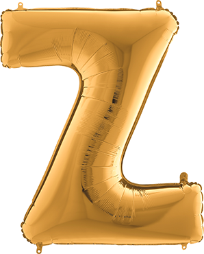 Buchstabenballon Gold XXL Z