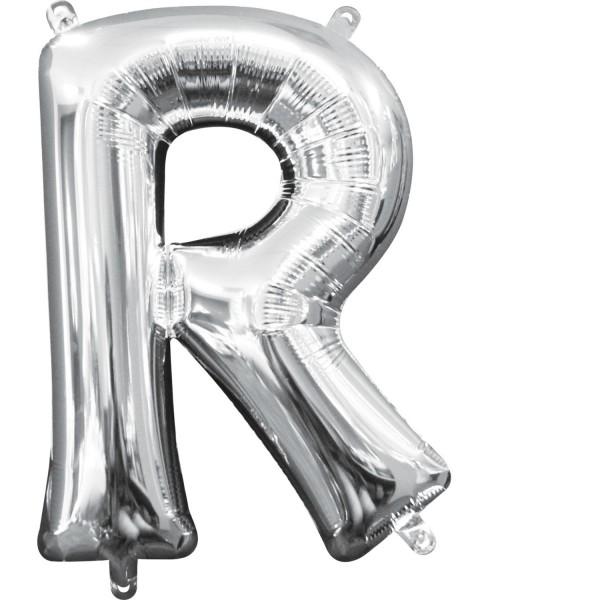Buchstabe R Silber Folienballon