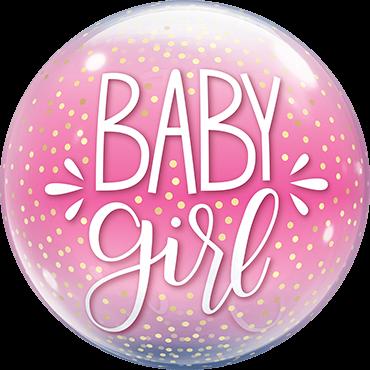 Baby Girl Bubble Folienballon
