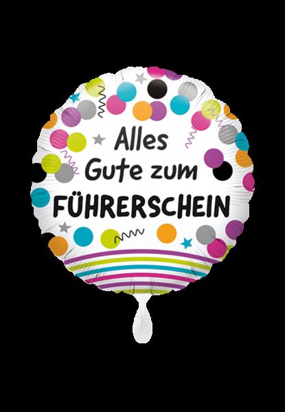 Alles Gute zum Führerschein Folienballon