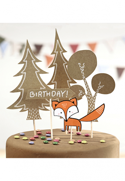 Cake Topper - Woodland Birthday