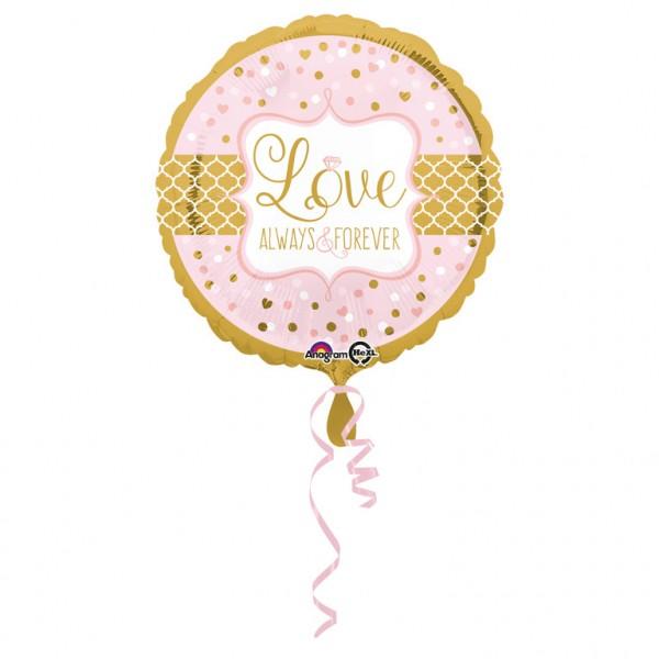 """""""Love Always & Forever"""" runder Folienballon"""