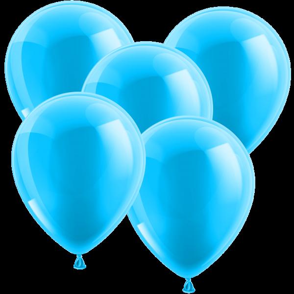 100 Luftballons aus Latex - Metallic Hellblau 30cm - Rund