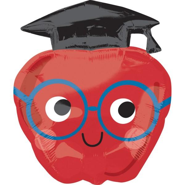 Abschluss - fröhlicher Apfel Absolvent - Folienballon
