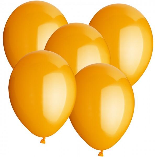 100 Luftballons aus Latex - Orange
