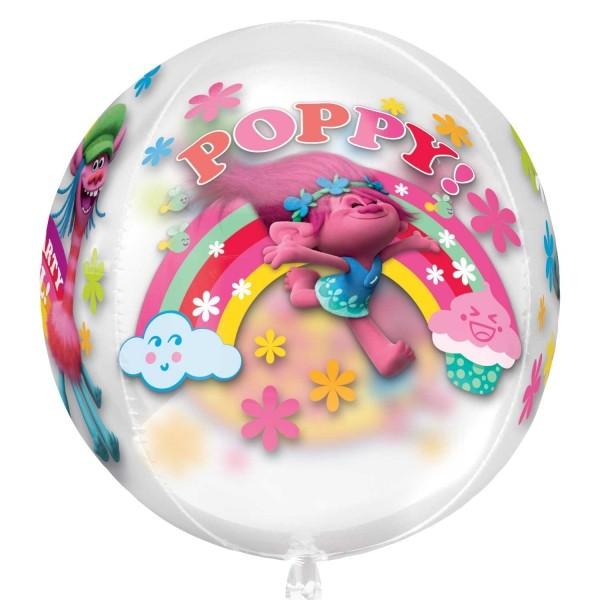 "Orbz ""Trolls"" klar Folienballon"