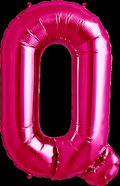 Buchstabenballon Pink XXL Q