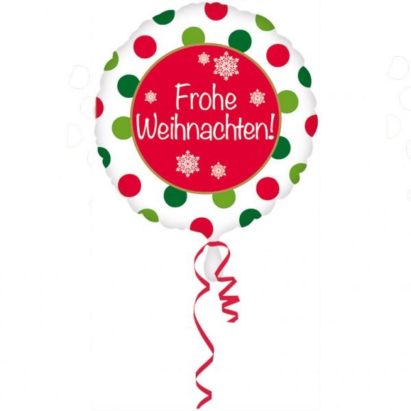 Frohe Weihnachten Folienballon