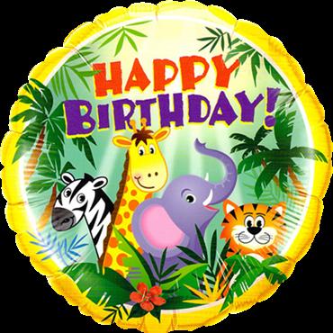 Geburtstags-Dschungel-Freund-Folienballon