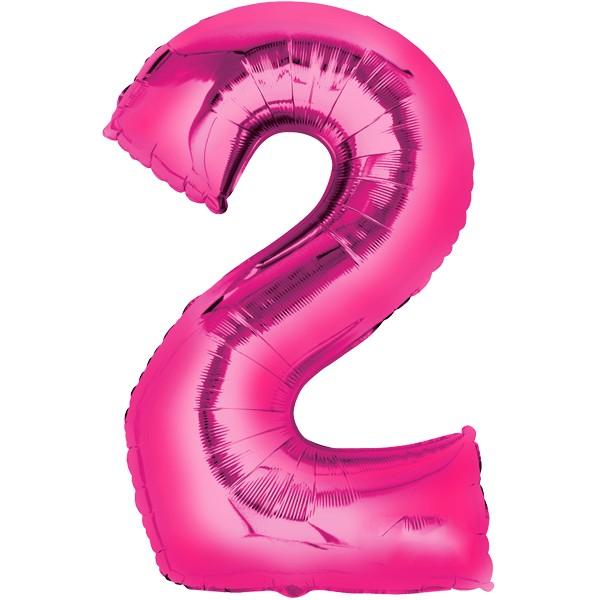 Zahlenballon XXL Pink 2