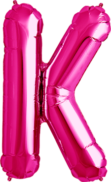 Buchstabenballon Pink XXL K