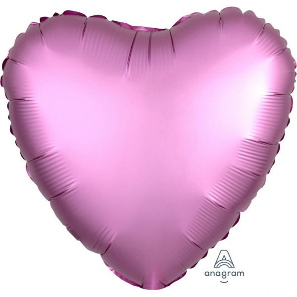 """""""Satin Luxe Flamingo"""" herz-förmig Folienballon"""