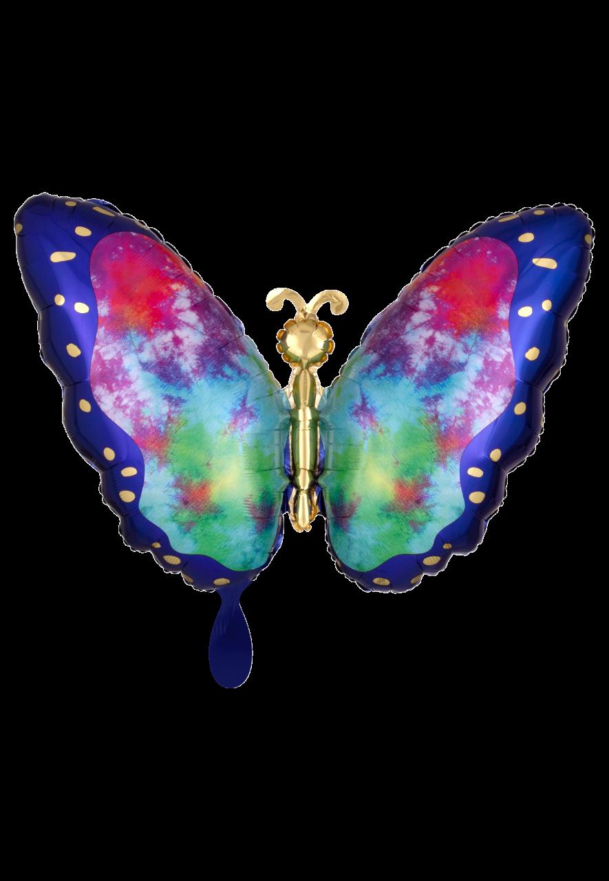 Tie-Dye Butterfly Folienballon