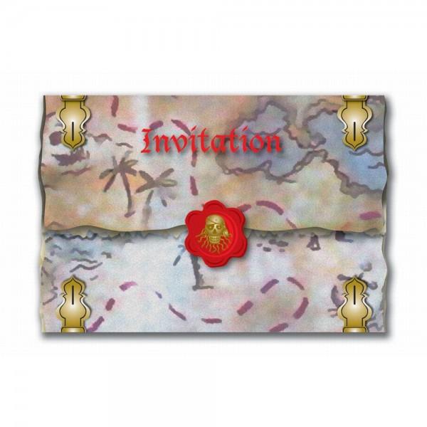Einladungskarten Rote-Piraten