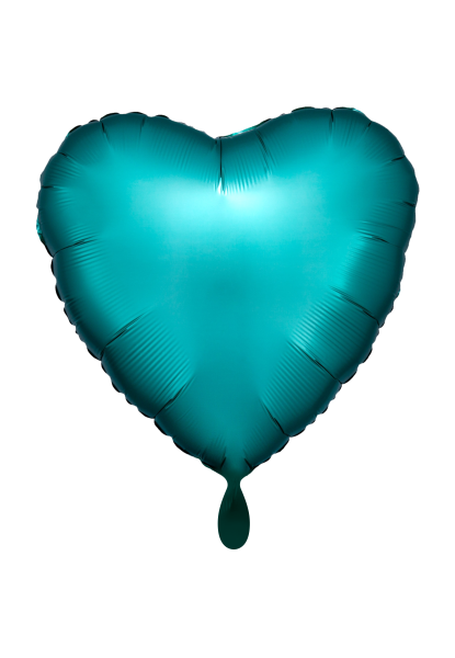 Herz Satin Jadegrün Folienballon