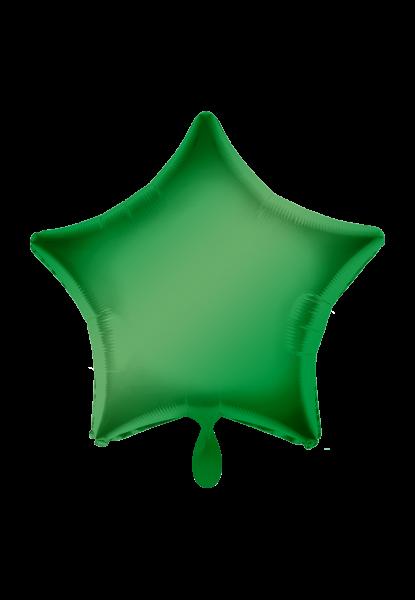 Satin Luxe Stern Grün Folienballon