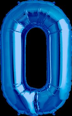 Buchstabe XXL - O - Blau - Folienballon