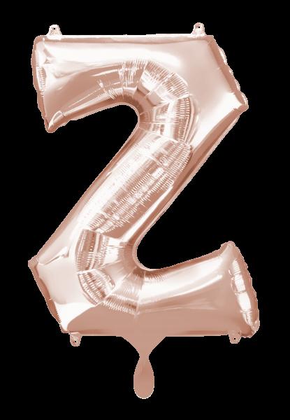 Buchstabenballon Z XXL Roségold