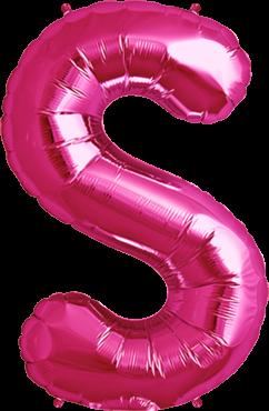 Buchstabenballon Pink XXL S