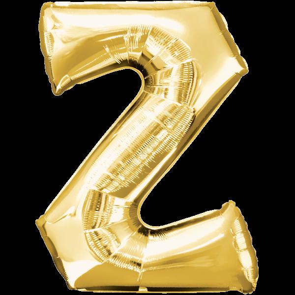 Buchstabe Z Gold Folienballon