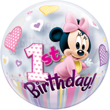 Minnie Maus Bubble Folienballon