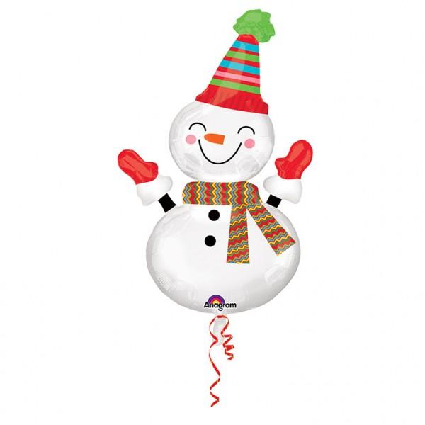 Lächelnder Schneemann Folienballon