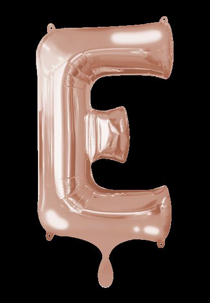 Buchstabenballon E XXL Roségold